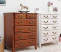 whitel wood storage cabinet / colorful wooden chest /colorful storage cabinet with 6 drawers