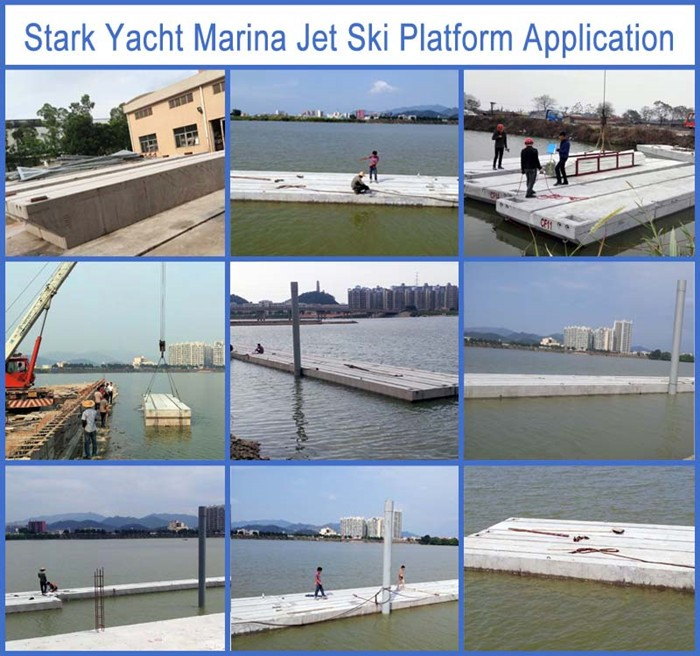 New design floating dock with concrete/aluminum alloy / hot dip galvanized steel structure