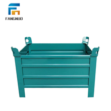 Customized warehouse metal folding steel pallet warehouse storage box for sale