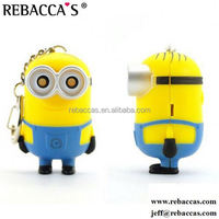 super cute mink minion plush toy short mobile phone chain for girl