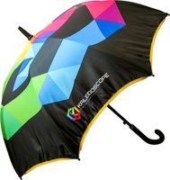 23inch auto open popular strong windproof cell phone umbrella