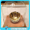 customized cheap glove box baseball glove stand with wooden base acrylic gloves display stand for sale