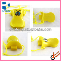plastic duck whistle with quack sound promotion gifts for kids big size duck whistle with eyes