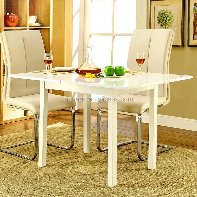 Good price of wooden extending dining table with Long Service Life
