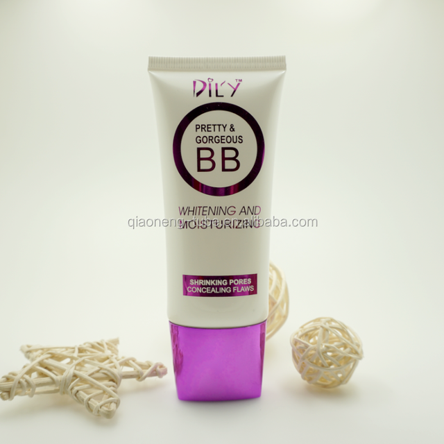 50ml D35mm New style oval shape bb cream with for Channel matal cap cosmetic soft tubes package
