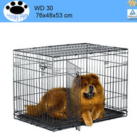 Black heavy duty metal china dog cage