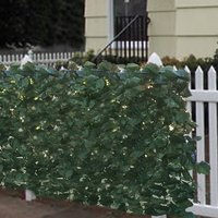 "Faux Ivy Privacy Fence Screen 94"" X 59"" Artificial Hedge Fencing Outdoor Decor"