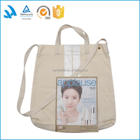 Factory custom made plain cotton tote bag for online shopping