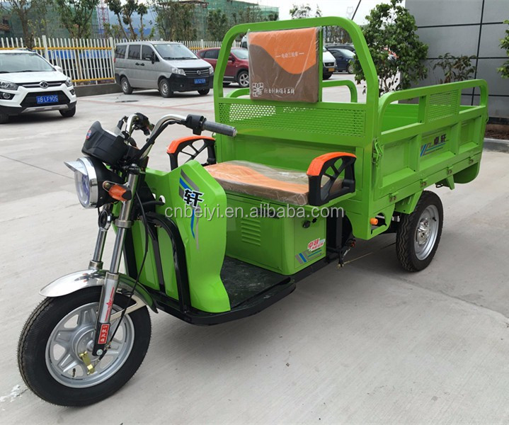 2016 high quality beautiful beat Cheap 1200w Electric adult three wheel motorcycle Tricycle For Cargo