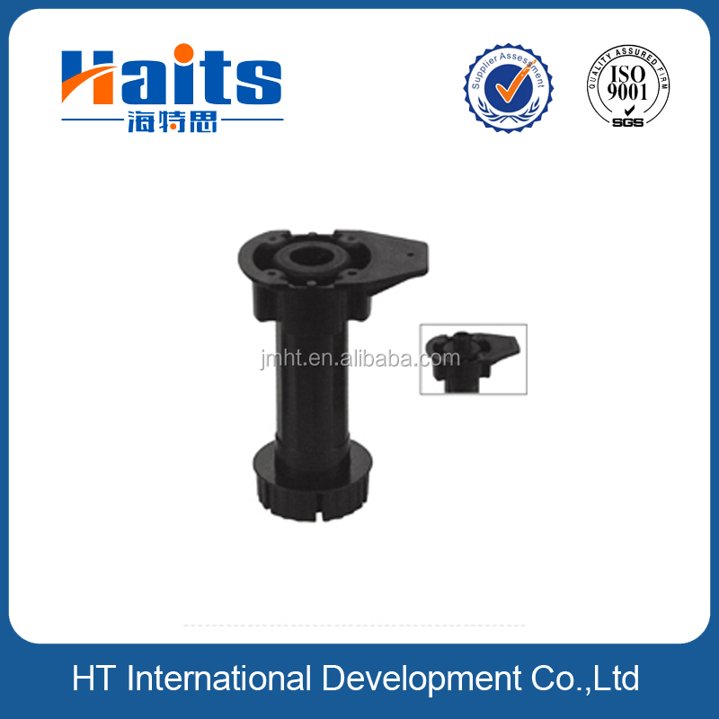 Plastic adjustable cabinet legs with PP or ABS