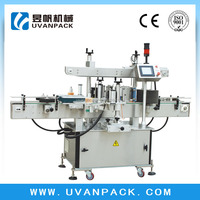 Automatic&High-efficiency Double Side Mango Juice Flat Bottle Labeling Machine TBK-150X