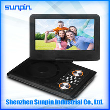 9 inch kids evd portable dvd player cheap price good quality made in sunpin shenzhen china