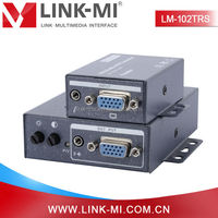 LM-102TRS 200m Audio + VGA to UTP Extender Transmitter and Receiver Over Cat5/5e/6 For Local/Remote Display