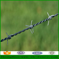 High quality hot dipped galvanized / PVC coated / low carbon wire Barbed Wire Fence