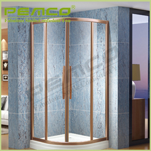 Hotel Bathroom frameless tempered glass stainless steel enclosed shower cubicles