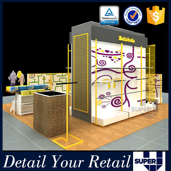 2015 Fashion Design retail shop kiosk design, Fashion clothes kiosk design for retail shop