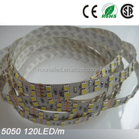 High brightness 120LED/M 12VDC 2500-7000K 5050 Double row LED strip
