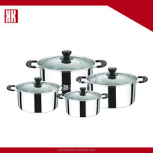 High Quality Competitive Price Cookware Set Stainless Steel Large Cooking Pot