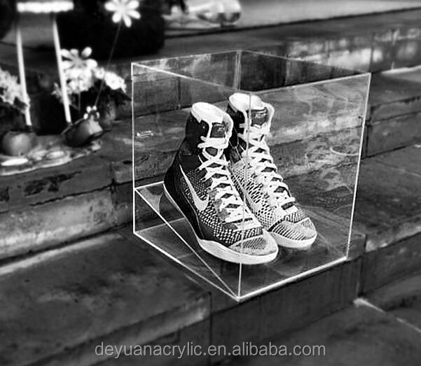 Top Grade Acrylic Shoe Box For Nike Shoe / Clear Shoe Box