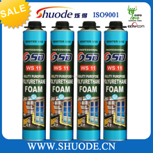 low temperature 750ml spary polyurethane marine joint mixture