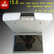 15.6 inch vehicle flip down monitor dvd player with usb port touch button