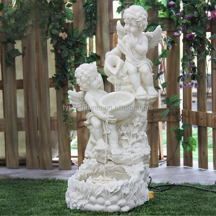 Hot sale indoor or outdoor european furnishing articles stone modern angel water fountain