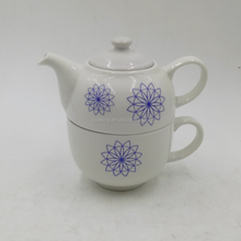 Hot Selling Blue and White Classic Porcelain Tea Pot Flower Pot For restaurant Hotel Home