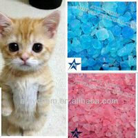 100% Water Absorption Easy Clean Crystal Silica Gel Cat Litter,Kitty Sand