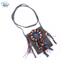 MBBG05 Trendy feather bag with long crossbody string Ideal gift for Boho style lover hawaii bohemian style lady beach bag