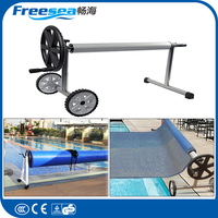 Waterproof fashion design swim pool cover solar pool cover reel For Frame Pools