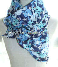 paisley digital print custom design silk scarf, fashion style and competive price SYF-001