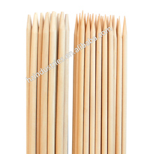 Grilling of bamboo skewer with custom logo