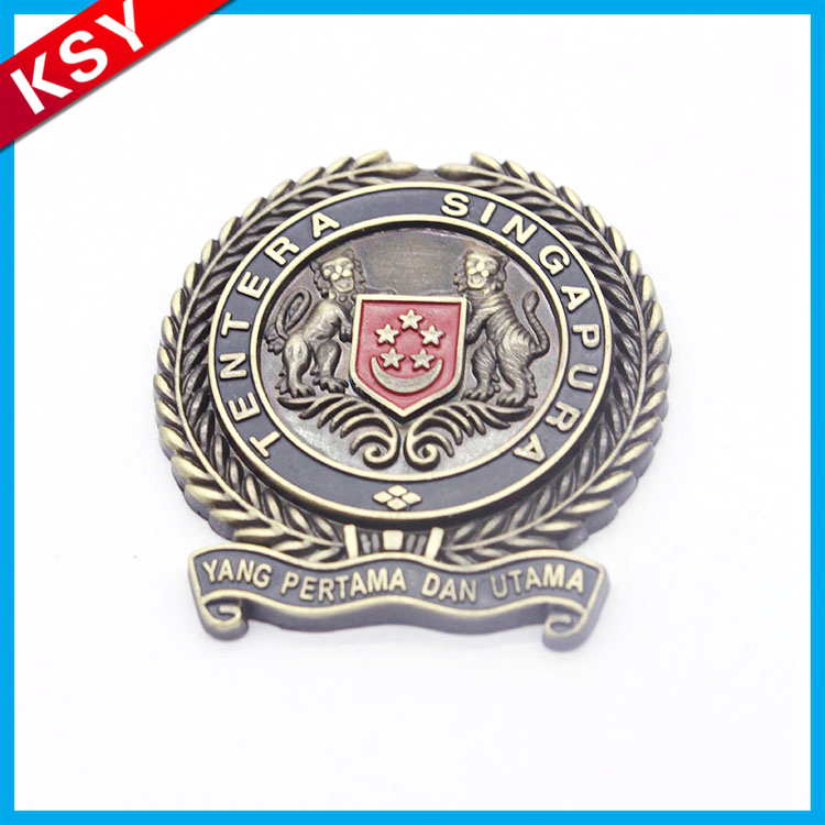 New customized metal souvenirs badge