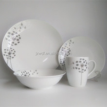 Dandelion Pattern Decal Porcelain Dinnerset 12/16/20pcs Ceramic Round Shape Houseware Dinnerware
