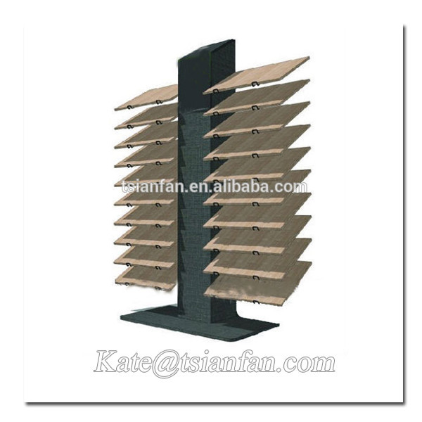 WD004---Retail hot sale wooden tile display unit
