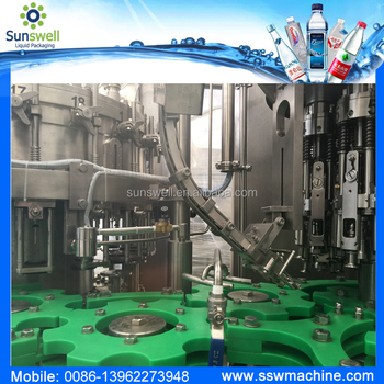 Aluminum bottled water bottling machine
