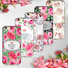 For iphone 5s oil painting fresh flowers soft tpu case , for iphone 6s silicone shells shockproof gel skin cover