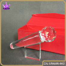 singing competition crystal microphone trophy