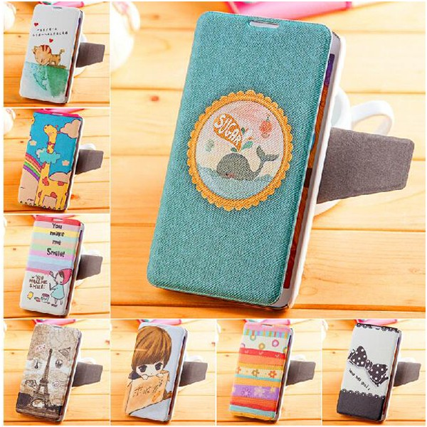 Fashion Colorful Painted PU Leather Pattern Case For Nokia Lumia 950 xl
