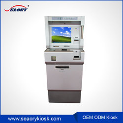 self service bank kiosk with cash acceptor and cash dispenser money exchange machine kiosk