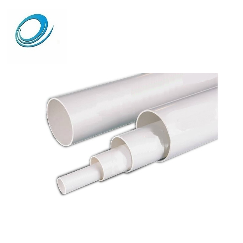 large diameter 5 inch 2mm thick high pressure plastic pvc pipes for water on sale