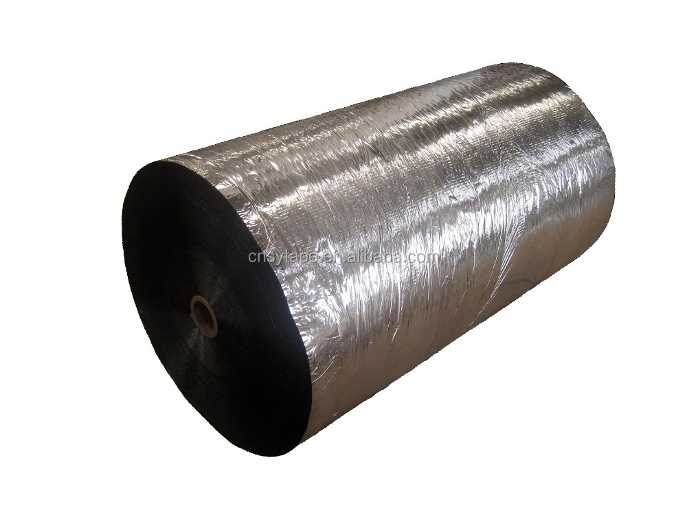 aluminum coated metalized opp tape jumbo roll 40mic 1280mm 4000m