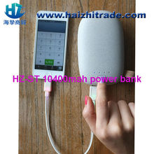2014 newest design stone power bank,universal external portable 2.1A/1A output portable charger power bank