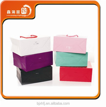 High grade wholesale custom fashion design white paper boxes gift