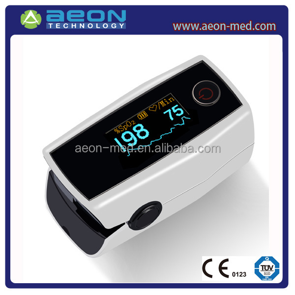 A330 Fingertip Pulse Oximeter CE Approved with Batteries and Lanyard, Ideal for Doctors, Home Health Care, Clinics