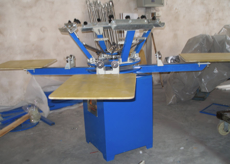 SPM 4/6/8 color 4/6/8 station manual ratory silk screen printing machine for sale/socks/gloves/T-shirt/swimming cap
