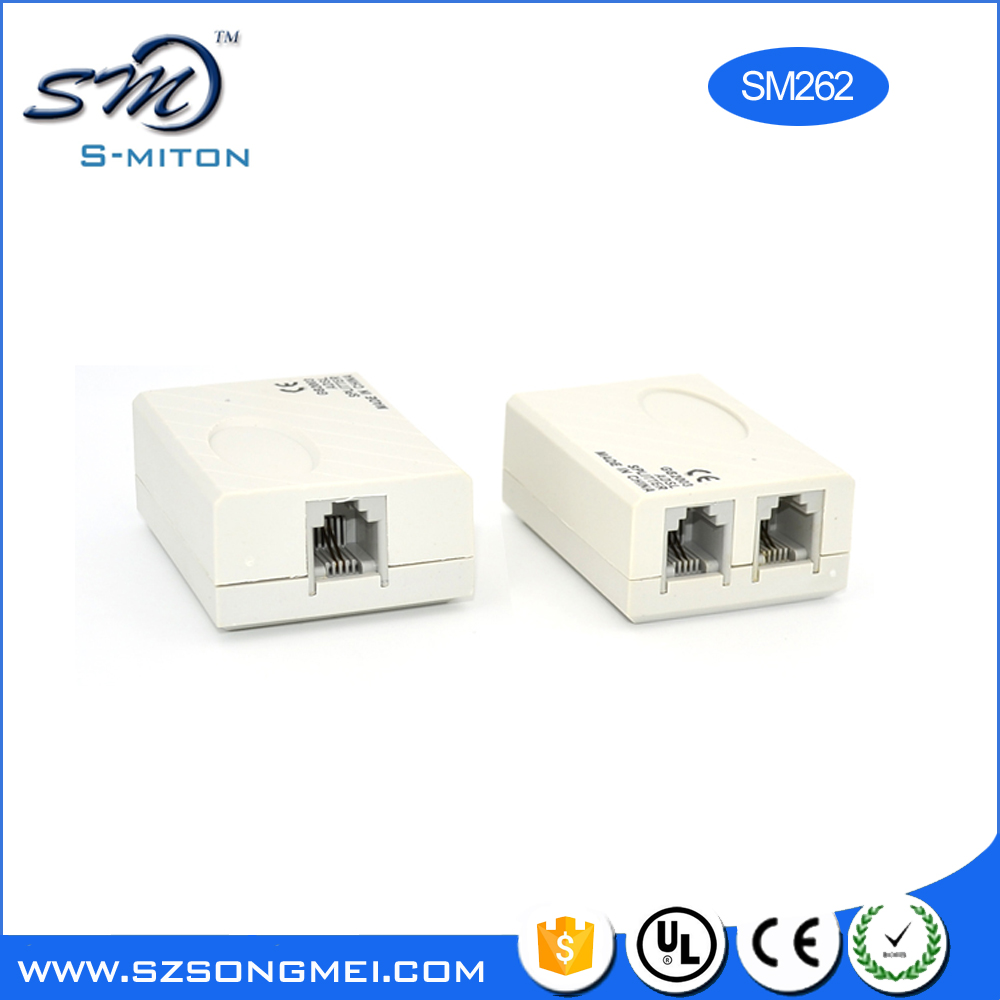 RJ11 ADSL Splitter / Filter for Phone & Modem Lines With Transformer