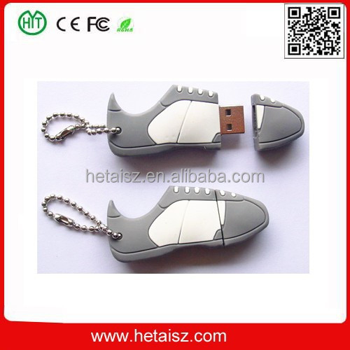 pvc sport shoe shape usb 256 gb usb, pvc sport shoe usb flash 2tb