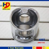 Tin Coating Alfin Diesel Engine Piston For QSB5.9 / K14 / 6D102 / 8465 Electric Piston OEM 3907163