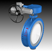 Gear Operated Double Flange Butterfly Valve